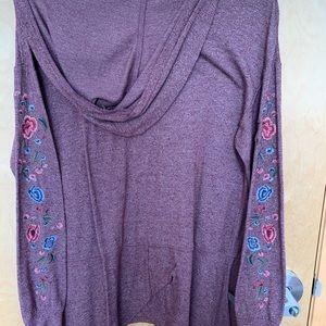 Purple Patterned Sweatshirt